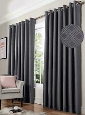 "Charcoal Grey Geometric Curtains Luxury Living Essential Diamond 66 x 72"" (1222)"