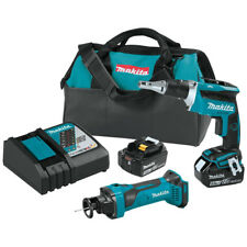 Makita XT255T 18-Volt LXT 5.0Ah Lithium-Ion Screwdriver/Cut-Out Tool Combo Kit