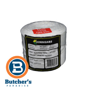 Butcher's Twine White Polyester Trussing, Cooking Twine/400m 2475 Tex
