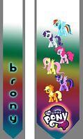 L@@K! Brony My Little Pony Satin  Neck Tie MLP Friendship is Magic