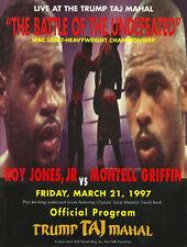 Original Vintage Roy Jones Jr. vs Montell Griffin Boxing Fight Program Scorebook