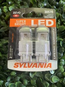 Sylvania ZEVO LED 3057R Pair Set LED Lamps Bulbs 3157/4057 NEW