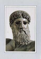 Alte Kunstpostkarte - Athen - Bronzestatue des Poseidon oder Zeus