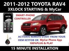 Plug & Play Remote Start 2011-2012 Toyota RAV4 3X Lock MyCar Smart Phone Control