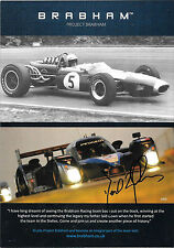 David BRABHAM signé projet Brabham Sportscar promocard 2015