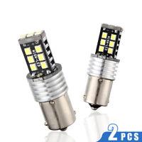 2X 30W BA15S 1156 15SMD 2835 Fehlerfrei LED Birne Blinker Canbus Bremslicht Weiß