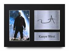 Kanye West Signed Pre Printed Autograph A4 Photo Gift For a Rap Fan