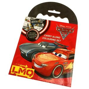 CARS 3 McQueen Carry Along Colouring Set OFFICIAL Crayons CAR LOOT PARTY BAG