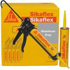 Sikaflex 1A Polyurethane Sealant, 10.1 oz, 24 Pack, Pro Caulk Gun, ALUMINUM GRAY