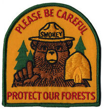 Smokey The Bear Vintage Prevent Forest Fires Iron On Patch 1970 Please Be Care