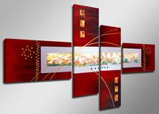 Images sur toile sur cadre 160 x 70 cm abstrait rouge pret a accrocher 6519