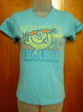 LITTLE MISS TROUBLE girls XL tee youth size 12 Roger Hargreaves T shirt UK