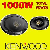 """KENWOOD 6""""x9"""" 6x9 1000W 3-way car rear deck oval shelf speakers, brand new pair"""