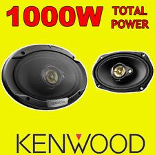 """Kenwood 6""""x9"""" 6x9 1000 W 3-way Coche Trasero Altavoces Estante Oval De Cubierta, Nuevo Par"""