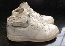 Nike Air Force 1 da Uomo Alta Top Scarpe Da Ginnastica Bianco Taglia UK 8 EU 42.5