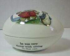 Wedgewood Peter Rabbit Egg Beatrix Potter Bunny Trinket Keepsake Box England Vtg