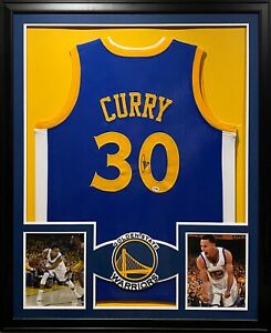 Steph Curry Framed Jersey PSA/DNA Autograph Signed Golden State Warriors Stephen