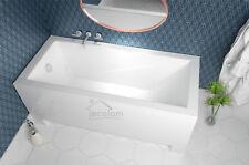 moderne Badewanne Rechteck Wanne 120 130 140 150 160 170 x 70 180 Schürze Ablauf