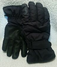 BARTS black Basic Ski Gloves fleece lined water resistant size XL (10) NEW