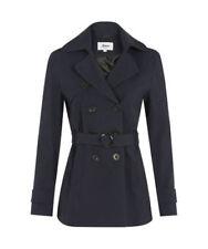 Cappotti e giacche da donna blu casual doppiopetto