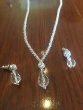 Genuine Authentic Swarovski Wedding Necklace AB crystal Matching  Earrings