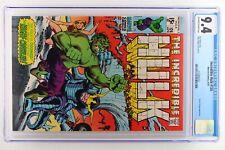 Incredible Hulk #126 - Marvel 1970 CGC 9.4 Doctor Strange Appearance.