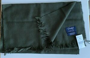 NWT Drake's Green 100% Cashmere Scarf