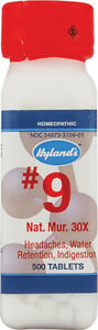 Natrum Mur by Hyland's Homeopathic, 1000 tablets 6X