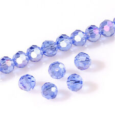 DIY 100Pc4mm Round Crystal Glass Beads Sky blue Spacer Bead For Bracelet Jewelry