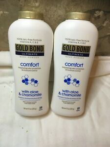 Lot 2 New GOLD BOND Ultimate Comfort Body Powder 10 Oz w/Aloe & Chamomile 283 g
