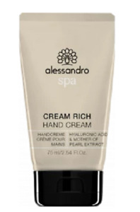alessandro Cream Rich 75ml Hyaluronic Acid & White Lupin Extract Handcreme