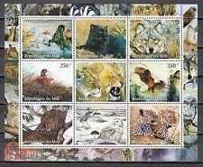 Mali, 1998 Cinderella issue. Wild Animals & Owl sheet of 9. *