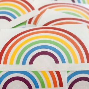 Rainbow Vinyl Stickers Pretty Rainbow Hope X 6