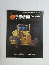 Champion 720 VHP/720A VHP/726A VHP Graders Color Literature