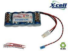 Leistungs Empfängerakku X-Cel SCR 6V4500 mAh mit zwei Stecker / Tamiya