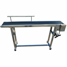59''Lx 8''W PVC Belt Conveyor Machine Packing Machine Single Guardrail 110V
