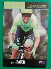 CYCLISME carte cycliste JACK BAUER équipe CANNONDALE 2016