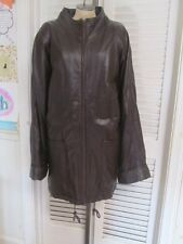Spiegel Vintage Brown Leather Heavy Winter Jacket Coat 3X 24W Amazing