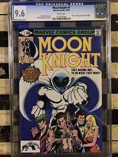 Moon Knight #1 CGC 9.6 Origin of Moon Knight 1st Bushman Disney+ MCU White Pgs