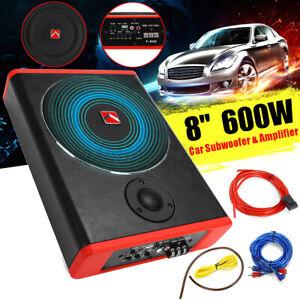 8'' 600 Watt  Subwoofer Auto Aktiv Bassbox mit Aktivsubwoofer ower Verstärker