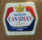 VINTAGE CANADIAN BEER LABEL - MOLSON BREWERY, CANADIAN LAGER 341 ML