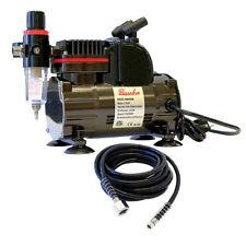 Paasche 1/5 HP Airbrush Compressor w/ Regulator, Hose & Airbrush Holders