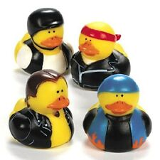 Motorcycle Rubber Ducks 12 Piece Party Favor Decoration