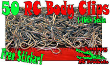 50 - 10th  Body Clips RC Traxxas TMaxx EMaxx Revo Rustler Slash Stampede Summit