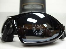 PADDED Biker MOTORCYCLE RIDING GLASSES GOGGLES With Strap Black Frame Dark Lens