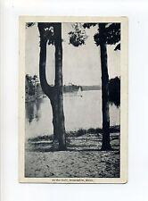 Dunstable MA Mass, At the Gulf, sailboat on water, antique postcard