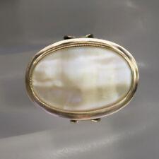 Ring mit Perlmutt Besatz in 333/8K Rosegold