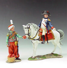 King and Country NA026 Mounted Napoleon and Mameluke Servant New Retired