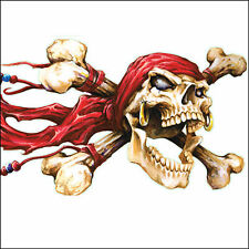 Lethal Threat Sticker Adhesivo XL scull Pirate RT ideal para camiones, automóviles, motocicletas