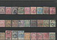 Wertvolles Lot Briefmarken Ungarn ab ca. 1890 gestempelt, ungestempelt 27 Werte